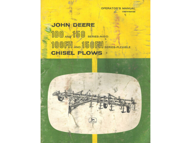 JOHN DEERE VINTAGE 100 150 100FH 150FH CHISEL PLOW