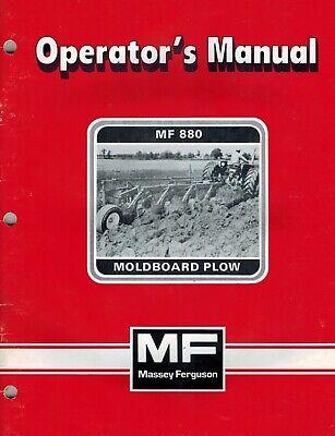 Massey Ferguson 880 Semi-mounted Plow Operators Manual New