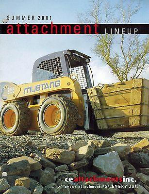 Mustang Attachments Skid Steer Loader Brochure 2001