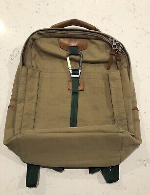 Master-Piece Beige Link Backpack $225 Japan Green Tan Leather Pockets Ssense