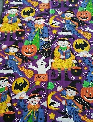 Halloween Ghost Bats Witch Fat Quarter 21