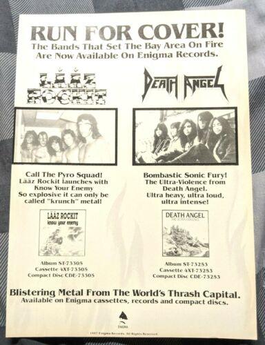 DEATH ANGEL / LAAZ ROCKIT 1987 ULTRA VIOLENCE & KNOW ENEMY LP MAGAZINE PRINT AD