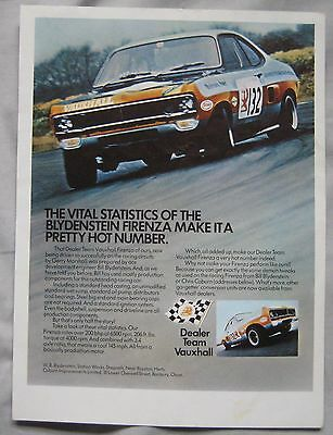 1972 Vauxhall Firenza Original advert No.1