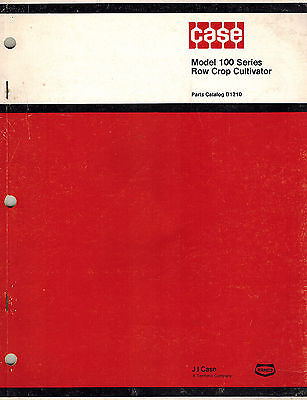 Case 100 Series Row Crop Cultivator Parts Manual New
