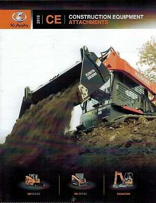 Kubota Construction Equipment Attachments Sales And Specifications  Brochure