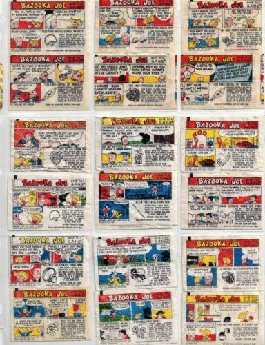 Vintage lot of 29 Bazooka Joe Comics 1960s Various Series