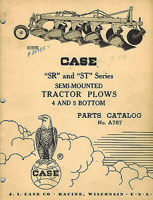 Case Vintage Sr St Series Semi-mounted Plow Parts Manual