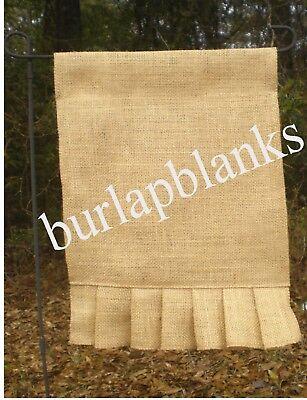 18 Burlap Garden Flags  BLANK with Pleated Bottom
