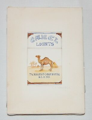 C.A. Warseck Camel Light Cigarette Pack Unique Signed Original Oil Glaze/Pencil