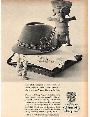 1960 CAVANAUGH Viking Hat Men's Vintage Print Ad