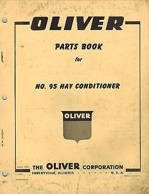 Oliver Vintage 95 Hay Conditioner Parts Manual 1960