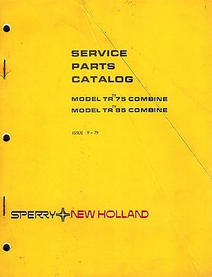 New Holland Tr75 Tr85 Combine Parts Manual