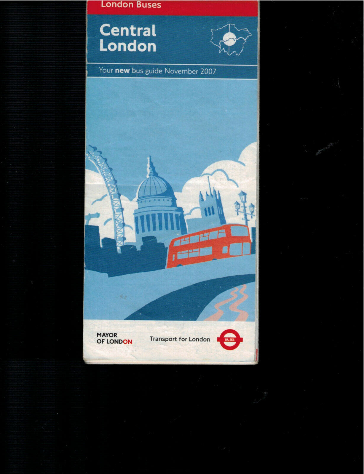 CENTRAL LONDON MAP AND BUS GUIDE - $1.75