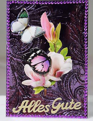 Ausgefallene 3D Karte,Handarbeit, Glückwunschkarte, Geburtstag, Schmetterling