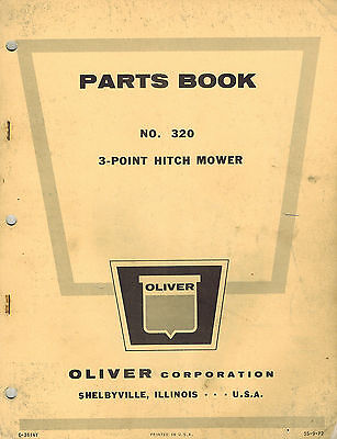 Oliver Vintage 320 3-point Hitch Mower Parts Manual