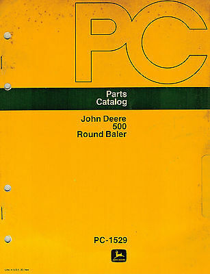 John Deere 500 Round Baler Parts Manual Jd