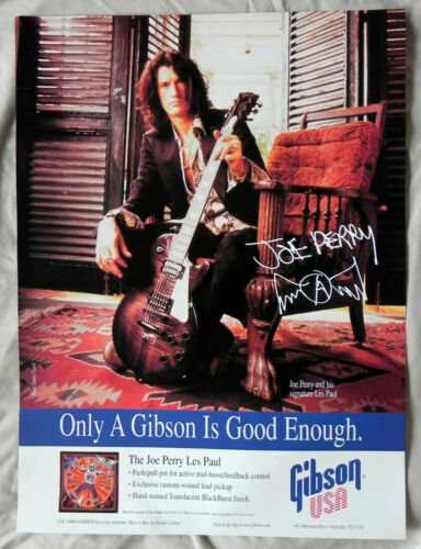 """Gibson """"Joe Perry Les Paul"""" Guitar Poster, 18""""x24"""" Full Color, Two Sided, New"""
