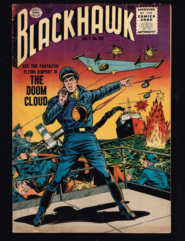 Blackhawk #102 ~ (1956) The Doom Cloud (4.0) WH