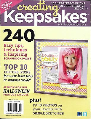 No 8 Halloween (Creating Keepsakes Magazine Creative Blocks Photo Layout Sketches Halloween)