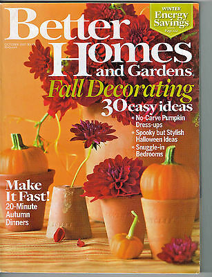 Better Homes & Gardens Magazine 2007 Halloween Decorating Pumpkins Apples Recipe - Halloween Pumpkin Recipes