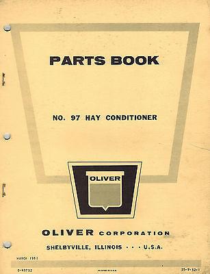 Oliver Vintage 97 Hay Conditioner Parts Manual 1961