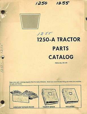 Oliver Cockshutt 1250-a 1255 Tractor Parts Manual 433079  1968