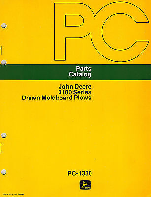 John Deere Vintage 3100 Drawn Plows Parts Manual New Jd