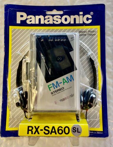 Vintage Panasonic Portable AM/FM Cassette Player Model RX-SA60 Silver - New