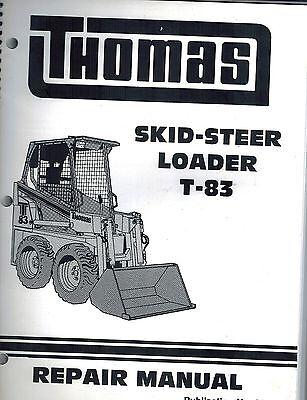 Thomas T83 Skid Steer Loader Repair Service Manual New 30611