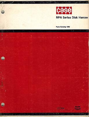 Case Rpn Series Wheel Disk Harrow Parts Manual New