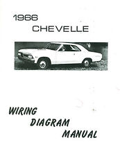 1966 66 CHEVELLE/EL CAMINO WIRING DIAGRAM MANUAL | eBay
