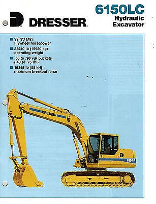 Dresser Vintage 6150lc Hydraulic Excavator Brochure 1990