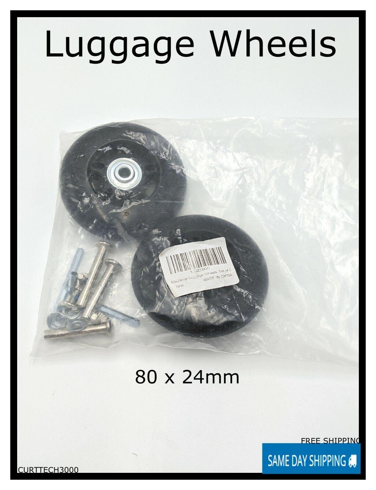 New Luggage Wheels 80 X 24mm  - $5.99