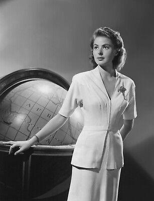Ingrid Bergman Casablanca Costume Black And White 8x10 Picture Celebrity Print