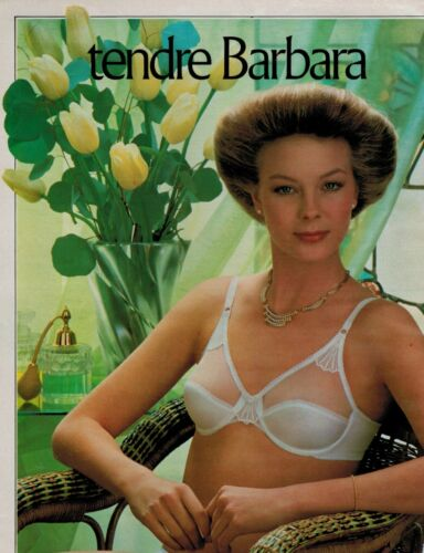 1980 BARBARA Paris  Lingerie BRA  French magazine  PRINT AD
