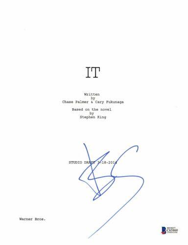 BILL SKARSGARD SIGNED AUTOGRAPHED IT MOVIE SCRIPT AUTHENTIC BECKETT BAS COA 1