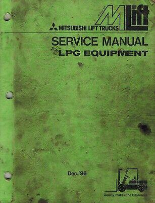 Mitsubishi Lpg Equipment Forklifts Service Manual