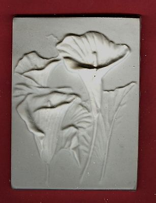 Flower tile #3: Calla lily plaster of paris painting project. Single tile.