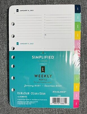 2021 Emily Ley Simplified Weekly Planner Refill