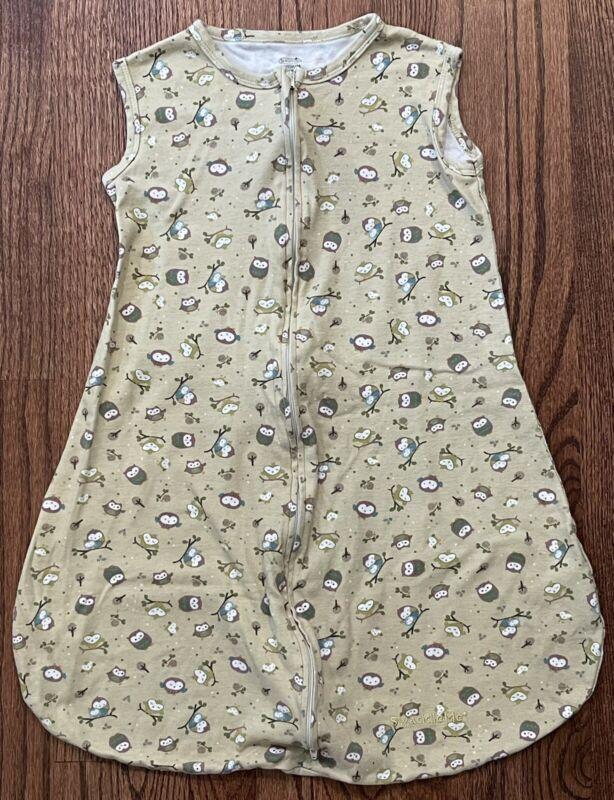 Summer Infant Sleep Sack Wearable Blanket Unisex Owl Print Size M Cotton