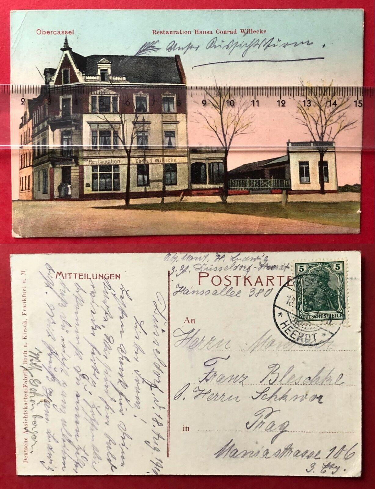 AK DÜSSELDORF Obercassel 1910 Restauration Hansa Conrad Willecke  ( 97437