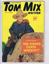 Tom Mix Western #25 Fawcett 1950