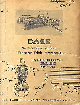 Case Vintage 70 Tractor Disc Harrow Parts Manual