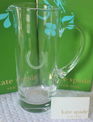NIB ~ Kate Spade ~ Fortunada ~ Crystal Cocktail Pitcher ~ Etched Lucky Horseshoe