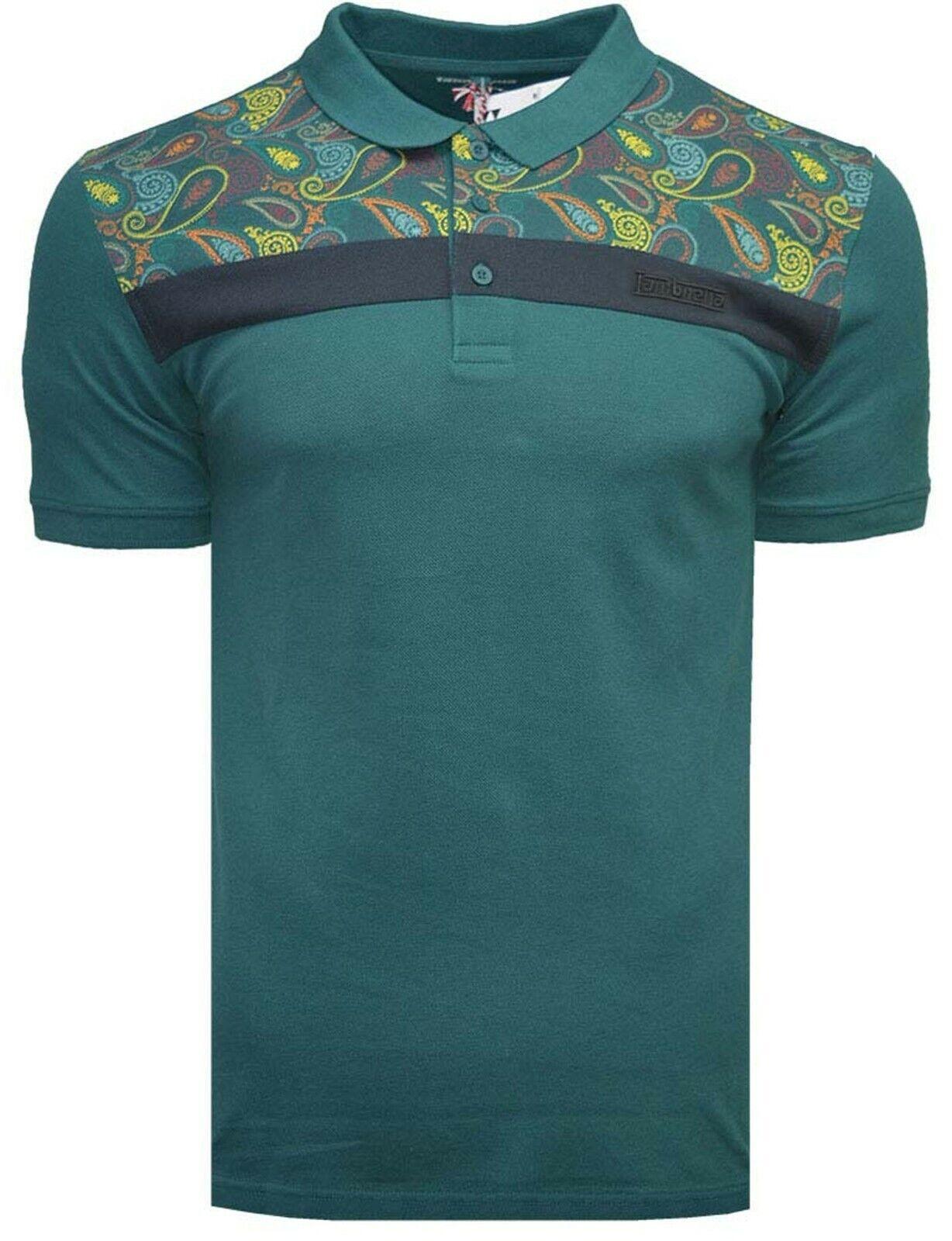 Lambretta Paisley Polo Shirts Mens Printed T Shirts Cotton Summer Tees UK S 4XL | eBay