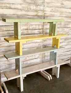 Rustic bench seats. Sandgate Brisbane North East Preview