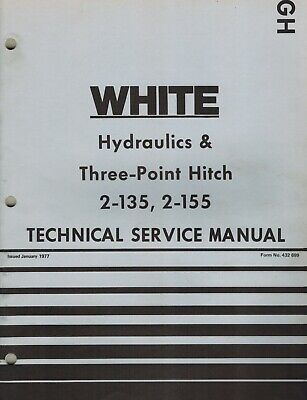 White 2-135 2-155 Field Boss Tractor Hydraulics Hitch Technical Service Manual