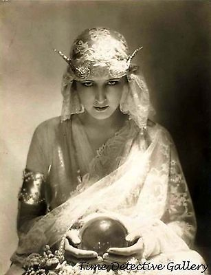 Fortune Teller with Crystal Ball - Historic Photo Print