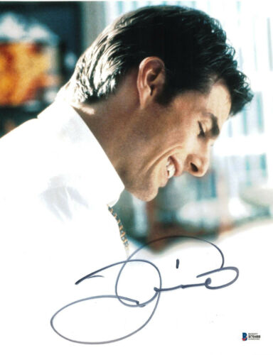 TOM CRUISE SIGNED 11X14 PHOTO JERRY MAGUIRE BECKETT BAS AUTOGRAPH AUTO B