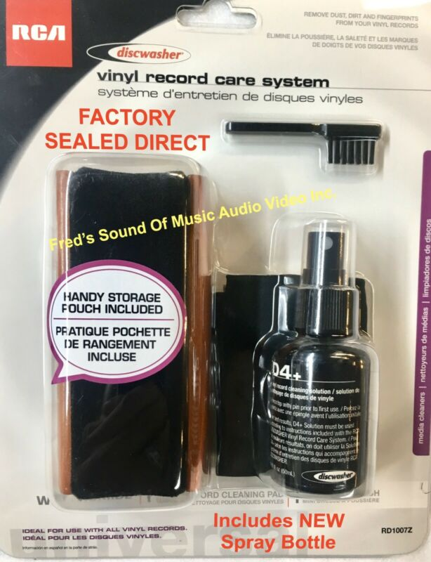 NEW Discwasher Record Cleaner Brush Kit D4+ w/ NEWEST SPRAY BOTTLE Fluid System